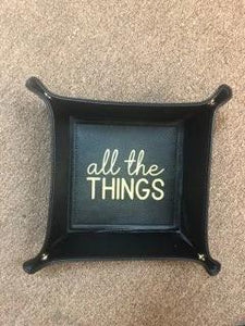 Black All The Things Trinket Tray