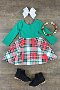 Allie Plaid Twirl Dress