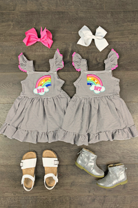 BFF (Best Friends Forever) Rainbow Dresses