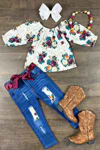 Callie Floral Denim Patch Set
