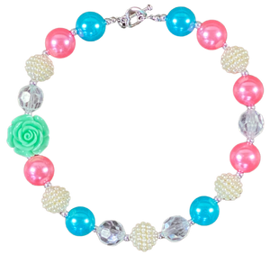 Candy Land Mint Rose Bubblegum Necklace