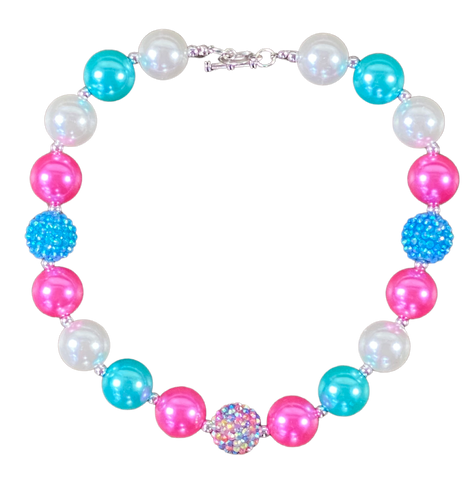 Cotton Candy Summer Bubblegum Necklace