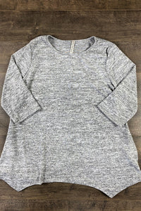 Woman Gray High/Lo Top
