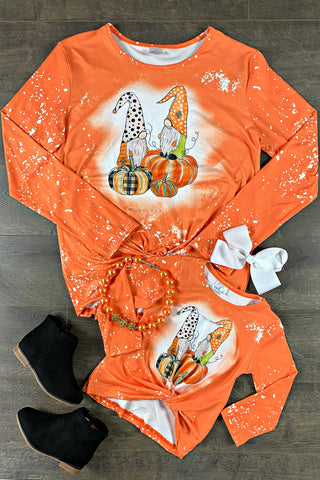 Pumpkin Gnomes Mom & Me Tops