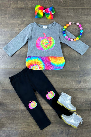 Pumpkin Tie Dye Legging Set