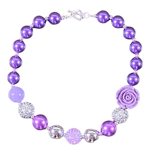 Purple Frost Bubblegum Necklace