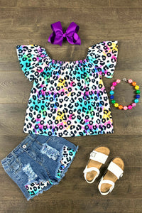 Rainbow Leopard Denim Patch Set