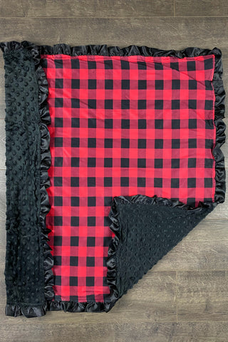 Red & Black Flannel Blanket