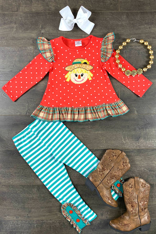 Scarecrow Gingham Set