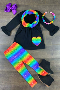Shimmer Rainbow Heart 3PC Set