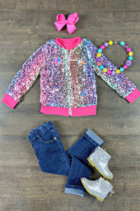Sparkly Ultra Rainbow Shimmer Jacket