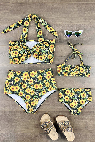 Mom & Me - Sunflower Two Piece Bikini Swimsuit