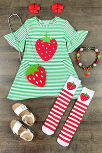 Strawberry Stripe Double Pocket Laikyn Dress
