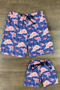 Dad & Me - Flamingo Floral Swimsuit