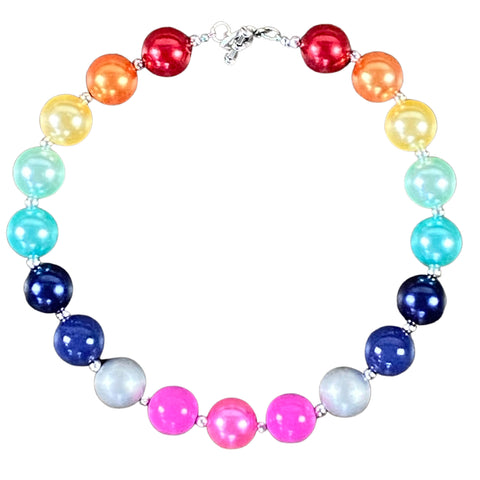 Bright Rainbow Bubblegum Necklace