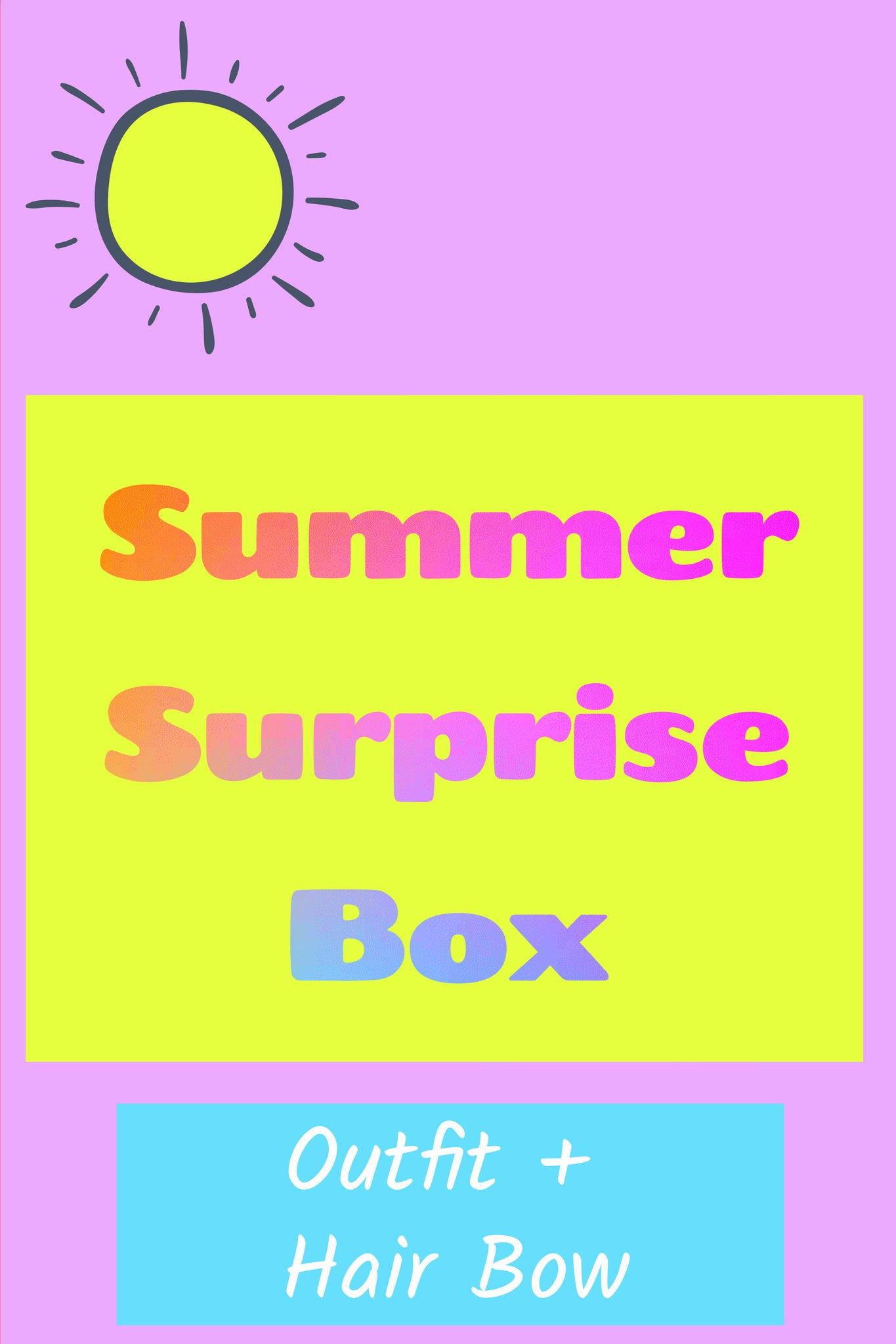 Summer Surprise Box ~ Outfit + Boutique Hair Bow