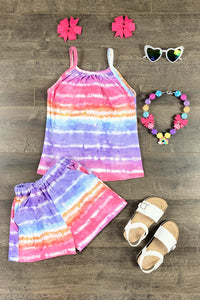 Serape Rainbow Tank & Short Set