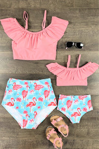Mom & Me - Flamingo Two Piece Bikini Swimsuit