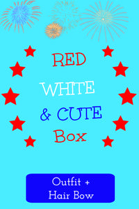 Red, White & Cute Box ~ Outfit + Hair Bow