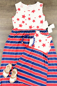 Mom & Me - Stars & Stripes Maxi Dress