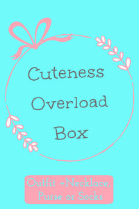 Cuteness Overload Box ~ Outfit + Necklace, Purse or Socks