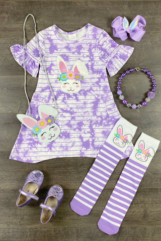 Purple Tie Dye Alexis Bunny Dress