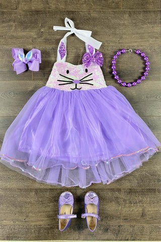 Sparkly Purple Bunny Princess Dress