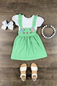 Mint Jozlyn Bunny Suspender Dress
