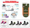 DryMax Trail Run 1/4 Crew w/ Turndown Socks Gray/Black