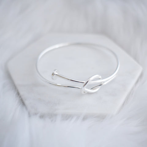 Twisted Nail Bangle