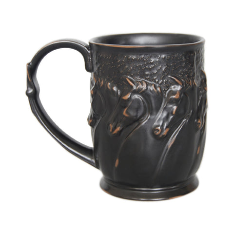 "Comfy Hour 18oz 4"" Horse Head Pattern Mug"