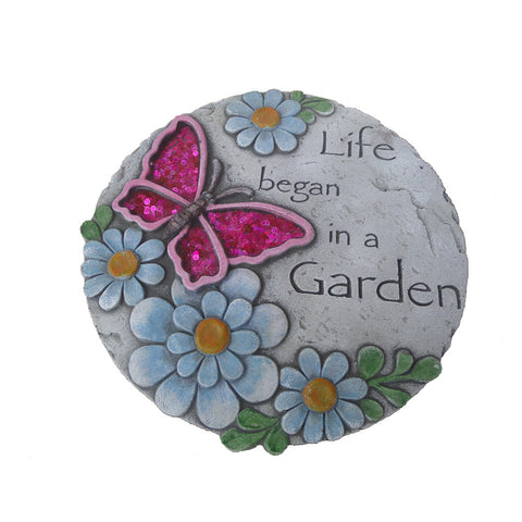 Comfy Hour Butterfly Flower Garden Stepping Stone 10 Inches
