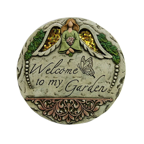 Comfy Hour  Angel Garden Stepping Stone
