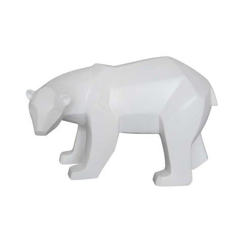 Comfy Hour 7 Bear Tabletop Decorative Figurine 3D Paper Folding Effect Finish White