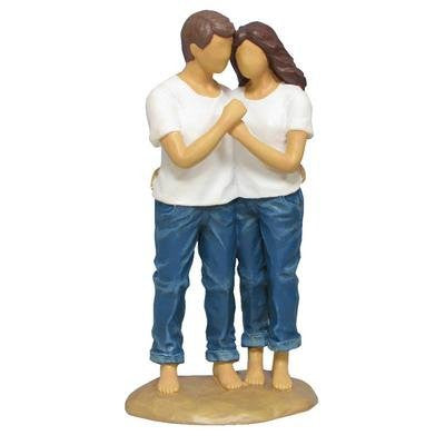 cowboy and angel wedding cake topper forever in blue sweet embrace figurine hour loop 13021