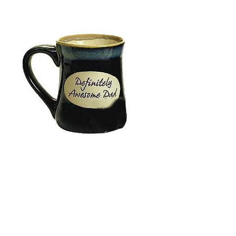 "Abbey Press Pottery Stoneware Coffee Mug ""Definitely Awesome Dad"" Father's Day Gift, 16 oz., Multicolor, 1 Piece"