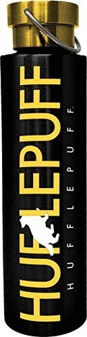 Spoontiques 18947 Hufflepuff Stainless Steel Bottle, 24 oz, Black