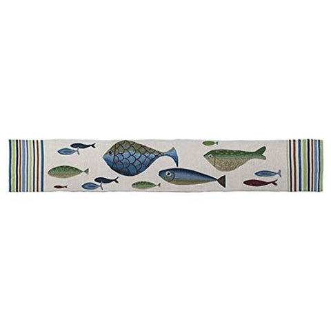DEI 13443 Table Runner with Fish Tales Design