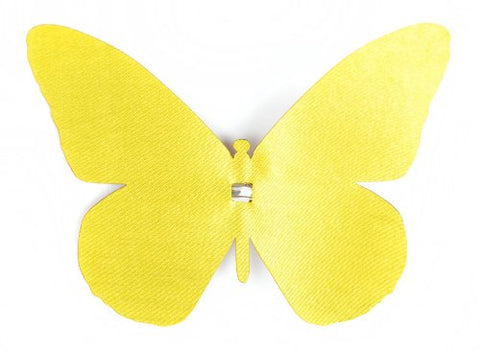 Touch of Nature 1-Piece Layer Me Monarch Butterfly Clip for Decoration, 4-Inch, Yellow Satin