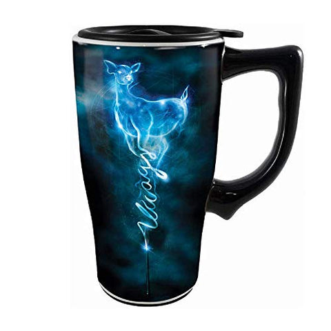 Spoontiques 12735 Harry Potter Always Ceramic Travel Mug, 18 ounces, Black