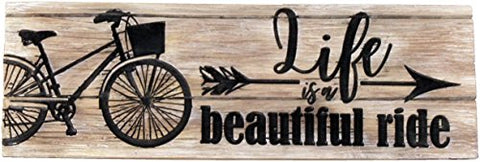 Spoontiques Life is a Beautiful Ride Desk Sign