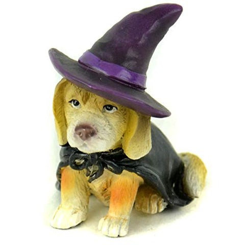 "Midwest Design Imports Dog in Witch Costume, 2"", Black"