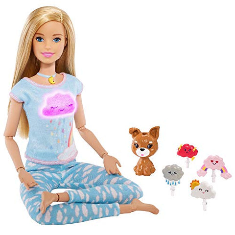 Barbie Breathe with Me Meditation Doll, Blonde, with Lights & Guided Meditation, Multi (GMJ72)