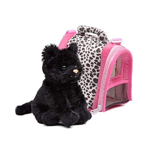 Unipak 2316CBK-4 Black Meow in Animal House, 8-inch Height