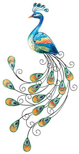 Regal Art And Gift Glass Peacock Wall Decor Hour Loop