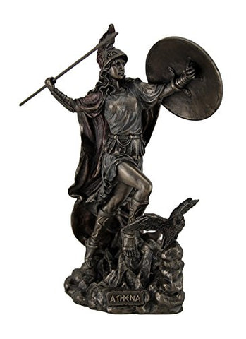 Athena Greek Goddess Throwing Javelin Statue Sculpture Minerva
