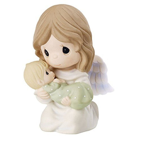 Precious Moments Angel Holding Baby Bereavement Figurine