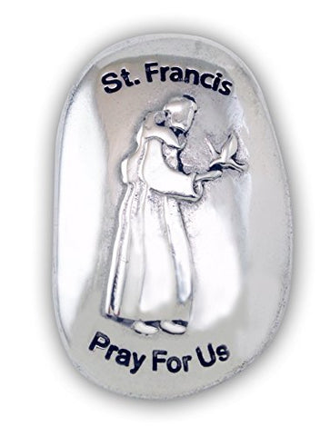Cathedral Art St. Francis Patron Saint Thumb Stone, 1-1/2 x 1 Inch, TS123