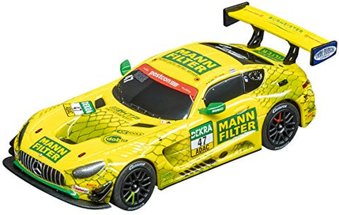 Carrera 64169 Mercedes-AMG GT3 Mann-Filter Team HTP No. 47 1:43 Scale Analog Slot Car Racing Vehicle for Carrera GO!!! Slot Car Race Tracks