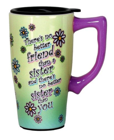 Spoontiques Sister Travel Mug, Green